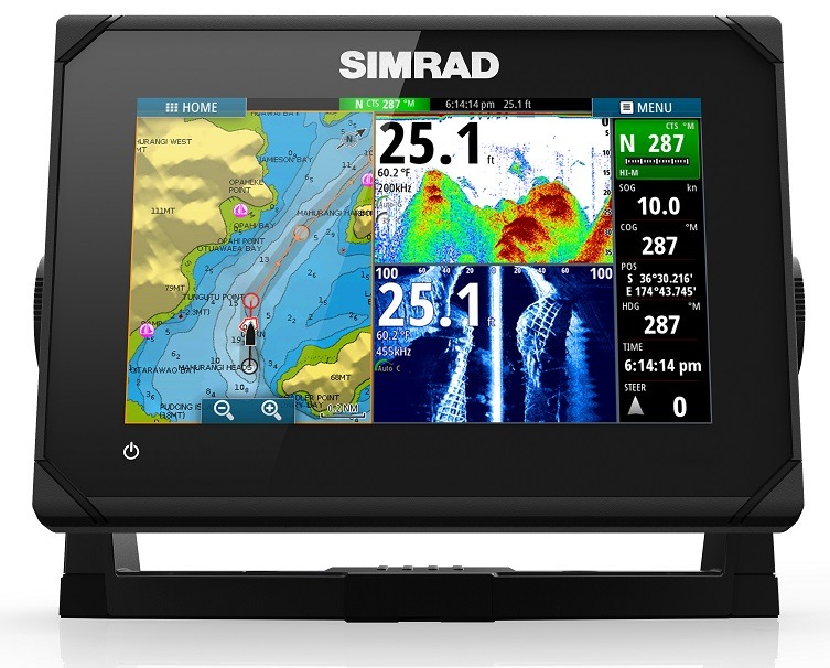 Simrad GO7 XSR with TotalScan with Transducer & NZ C-Map Chart
